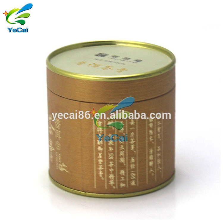 Custom Printing Cylinder Tea Tin Canister , Cardboard Paper Tube Boxes
