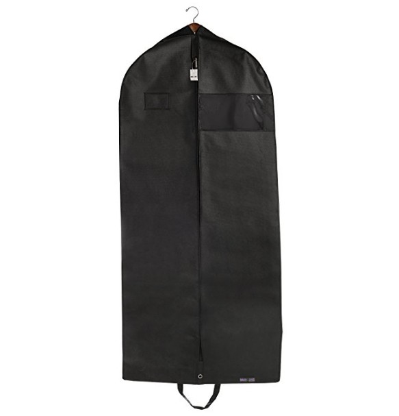 Hot selling custom logo Eco-friendly reusable foldable travel plastic garment bags for dresses