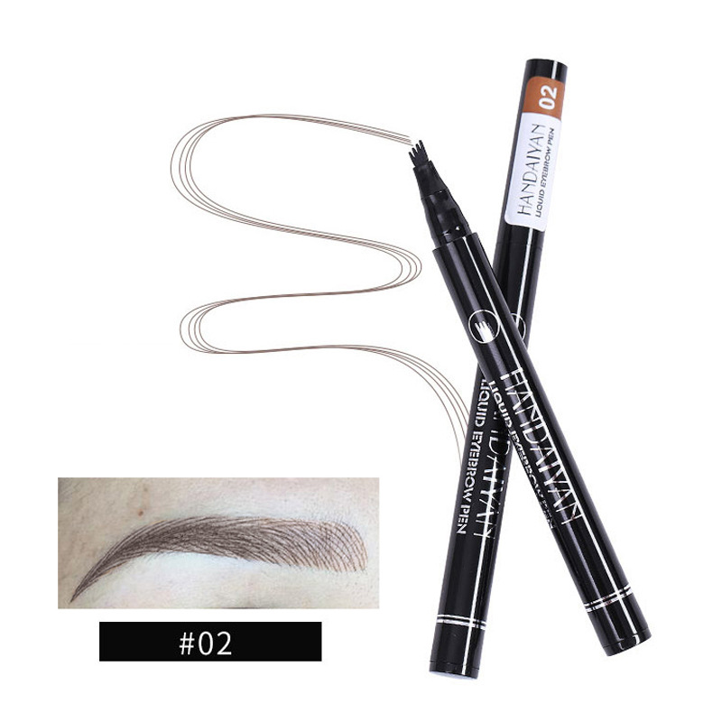 Handaiyan Eyebrow Pencil Waterproof Fork Tip Eyebrow Tattoo Pen 4
