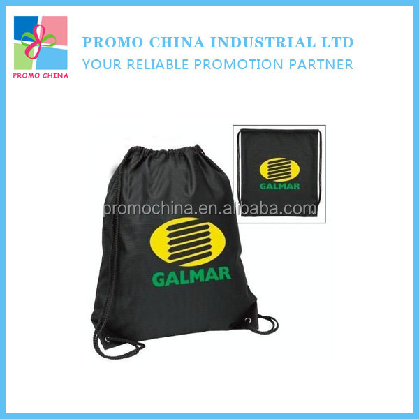Funny Smile Face Polyester Custom Drawstring Bag For Promotion