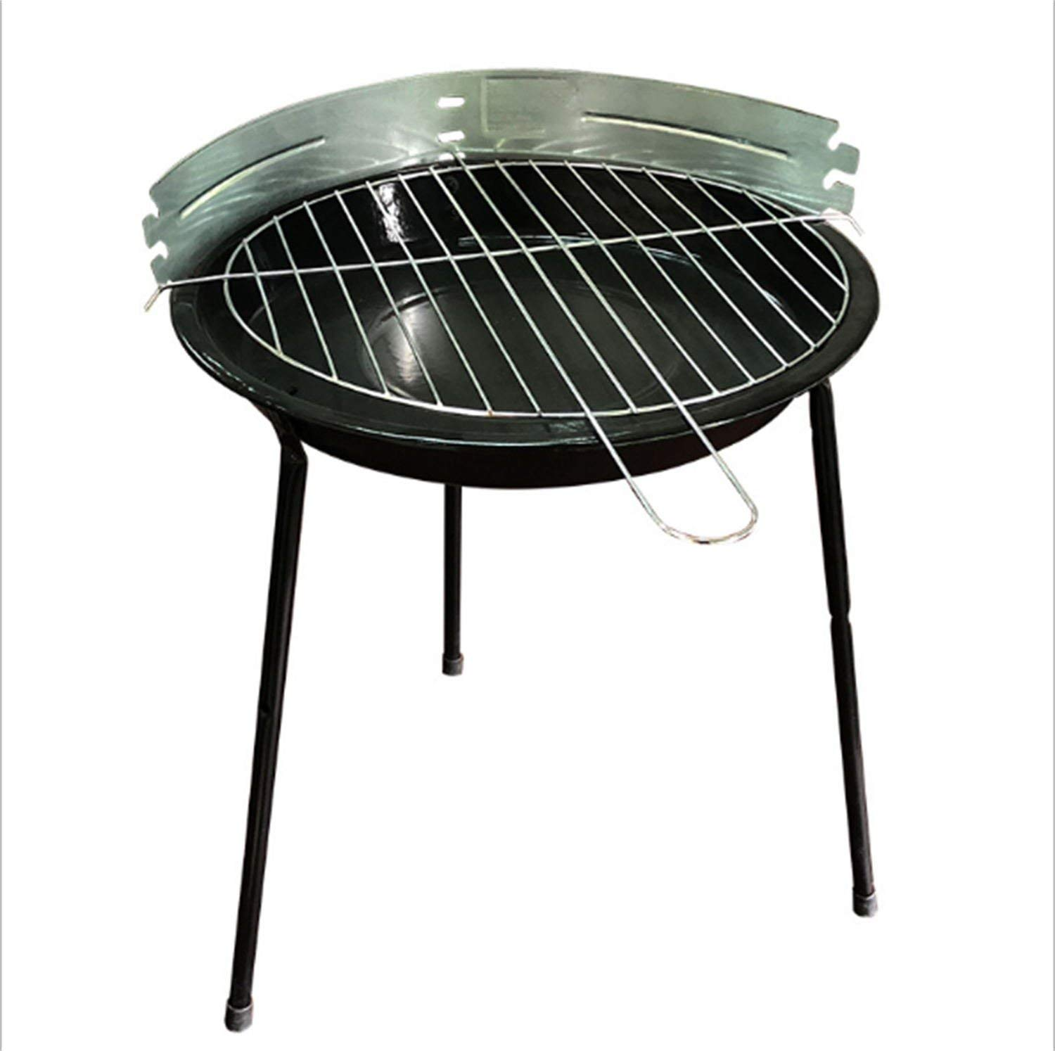 QueenA Portable Charcoal Barbecue Mini Grill, 13 Inch Small Lightweight BBQ Grill Smokeless Charcoal Grill for Outdoor Cooking Camping Picnic Hiking Tailgating Backpacking(Mini)