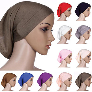 Professional design easy to use mercerized cotton hijab bonnet inner hijab