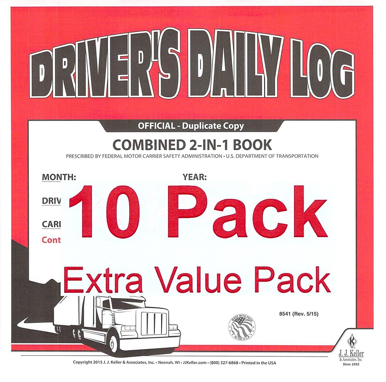 Keller 8530 2-in-1 Drivers Daily Log Book with Detailed DVIR
