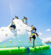 High quality floating inflatable iceberg water toy with best handle inflatable climbing games