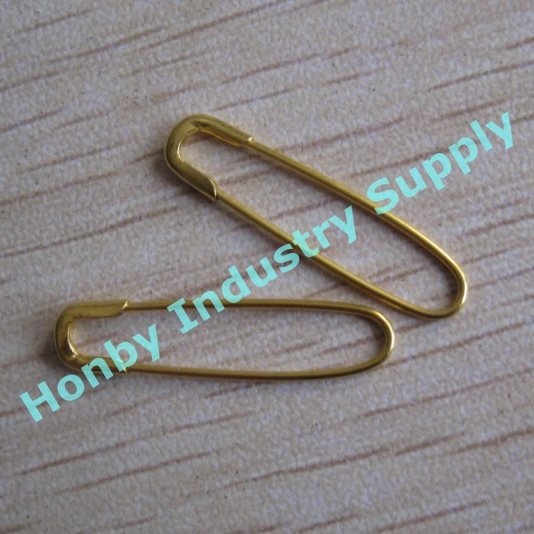 French Style Beading Pins No coil Safety Pins Pack of 100 Goldtone