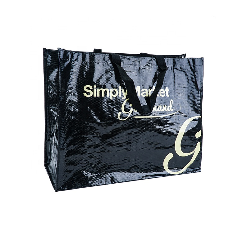 Promotional plastic laminated custom shopping pp woven bag