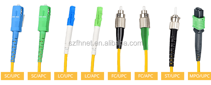 SM/MM SC/FC/LC/ST/MU/MTRJ/MPO Single Mode Cat6 Patch Konektor SC APC Optik Kabel & Cepat