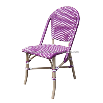 All Weather French Stylish Rattan Bistro Chair Cafe Chair