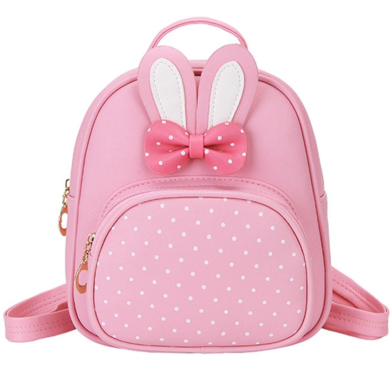 d0a651c362 Get Quotations · ChicPro Cute Little Girls Mini Backpack Toddler Kids  Schoolbag Bunny Backpacks For Kindergarten   Preschool
