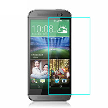 0.3mm Tempered Glass for HTC New One M8 2.5D Round Border High Transparent Screen Protector Film for HTC M8 with Clean Tools