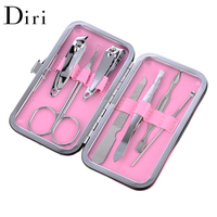 Professional Stainless Steel Nail Clipper Travel Grooming Kit 7pcs Manicure Pedicure Set