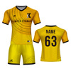 customize your own jersey soccer create football uniforms yellow and red soccer jersey