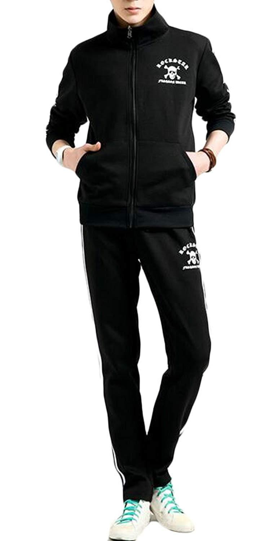 Fensajomon Men Casual Sport Sweatshirt Pants Two Piece Outfits Sweatsuits Tracksuits Sets