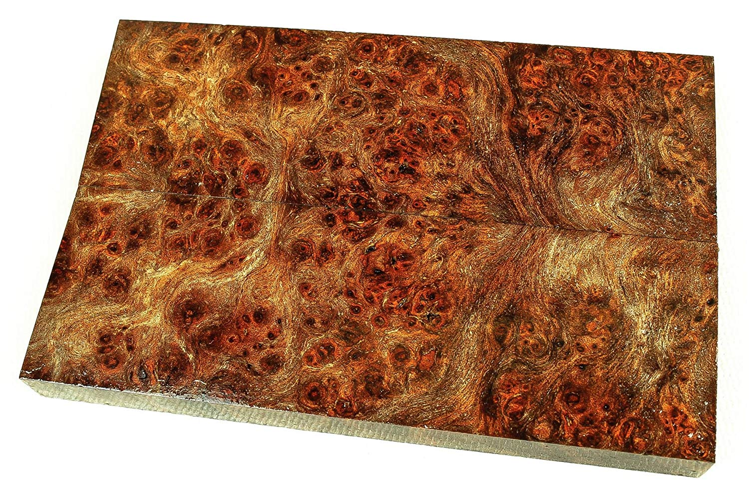 Gmelia Burl High Figured Rare Exotic Wood Knife Scales, Stabilized SCL6493