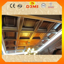 Big Discount fancy design solid wooden ceiling decoration BZ-003