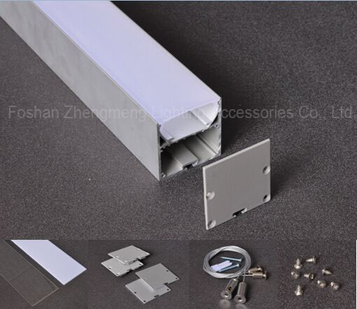 linear led suspended light/hanging profile/U channel aluminum Recessed Linear Led Aluminum Profile