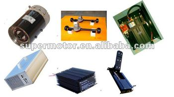 electric golf cart motor driving sets include motor and axle