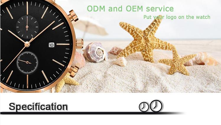 Mens watch oem chronograph watches odm watch