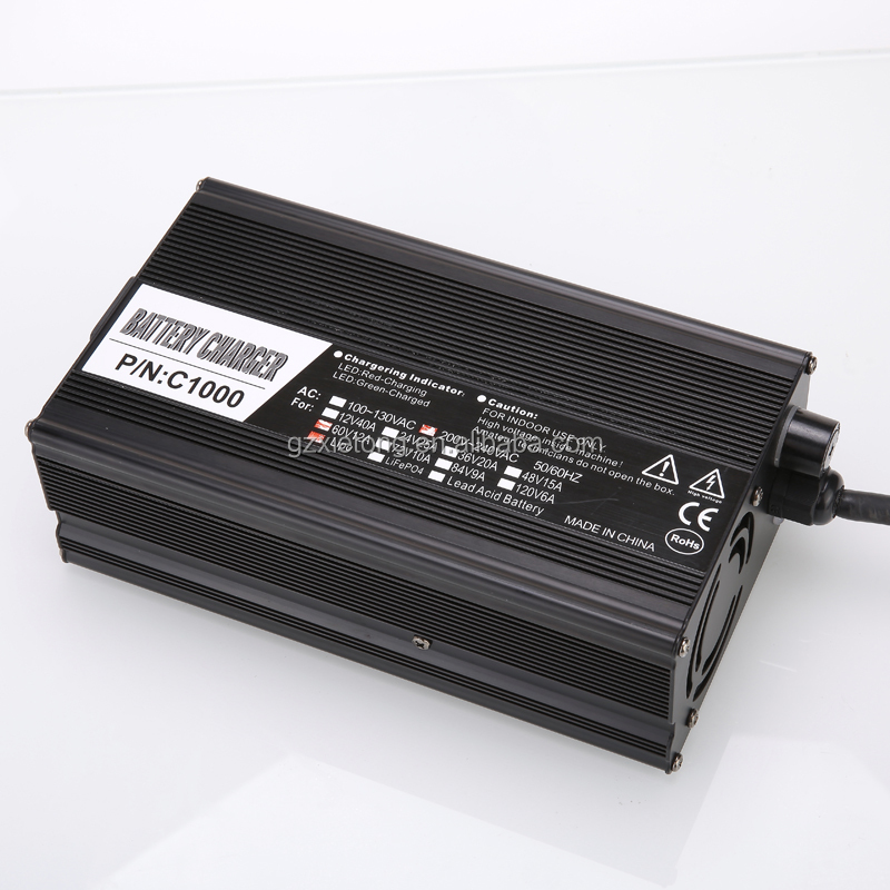 High quality !Mobility aluminium alloy shell li-ion battery charger 60v with CE and ROHS