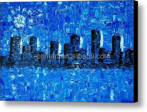 blue modern art styles famous painters paintings city buildings modern paintings for living room canvas painting buy online