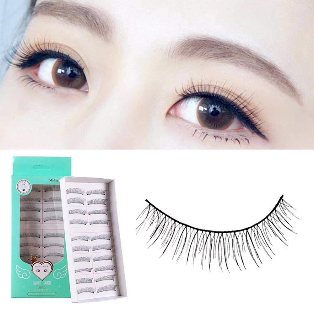 60bfccf9633 Get Quotations · KOBWA False Eyelashes, 10 Pair/lot Magnetic Eyelashes |  Magnetic Lashes Fake False lashes
