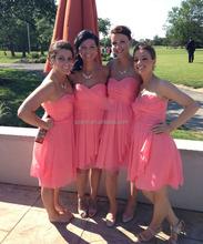 Vestidos color coral para promocion de primaria cortos