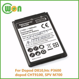 3.7V 1150mAh li-ion PDA replacement battery for Dopod D810 CHT9100,for htc P3600 SPV M700 CPB9134,PDA replacement batteries