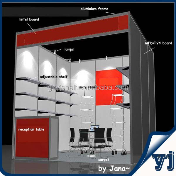Exhibition Booth Standard Size : Way upright exhibition booth standard aluminum fair