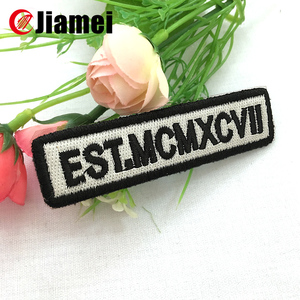 high quality embroidery work shirts/uniforms name patch