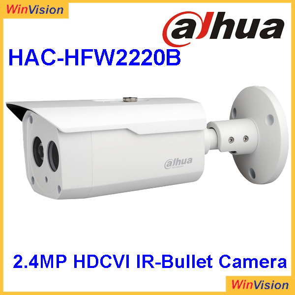 DWDR, Day/Night(ICR), AWB, AGC, BLC, 3D-DNR 6mm fixed lens (3.6mm, 8mm optional) Dahua 2.4Mp 1080P HDCVI Camera DH-HAC-HFW2220B