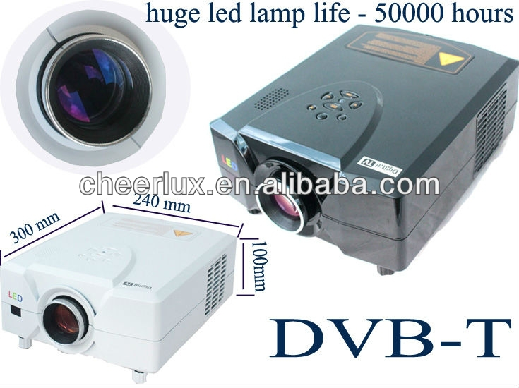 Cheerlux new technology led lamp home theatre projector with 50000 hours life support 1080p 720p 3D for home cinema/bar/ktv