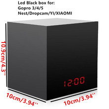 LED Clock Black Box Hidden Enclosure For Nest Cam/Dropcam/GoPro Hero 4, Hero 5, Session Into a <strong>Spy</strong> Camera