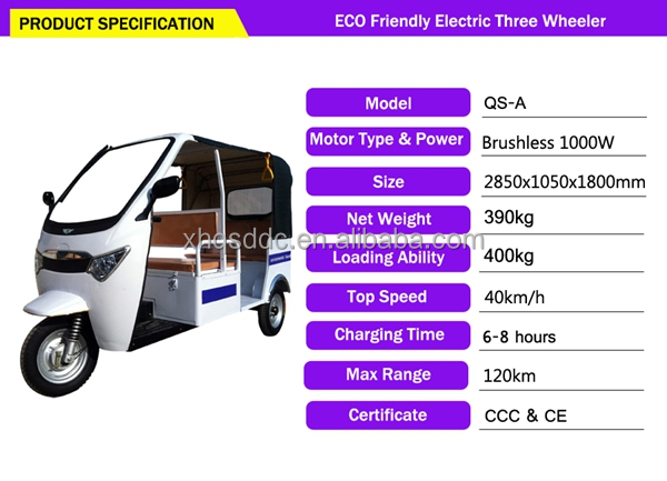 eco-friendly battery operated auto rickshaw bajaj model price listform china supplier for hot sale
