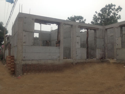 Wall Rendering Machine Precast Concrete Boundary Walls