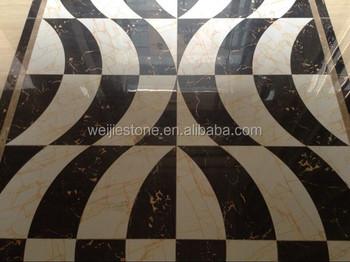 Hoogglans gepolijste gang decoratieve marmeren tapijt ontwerp