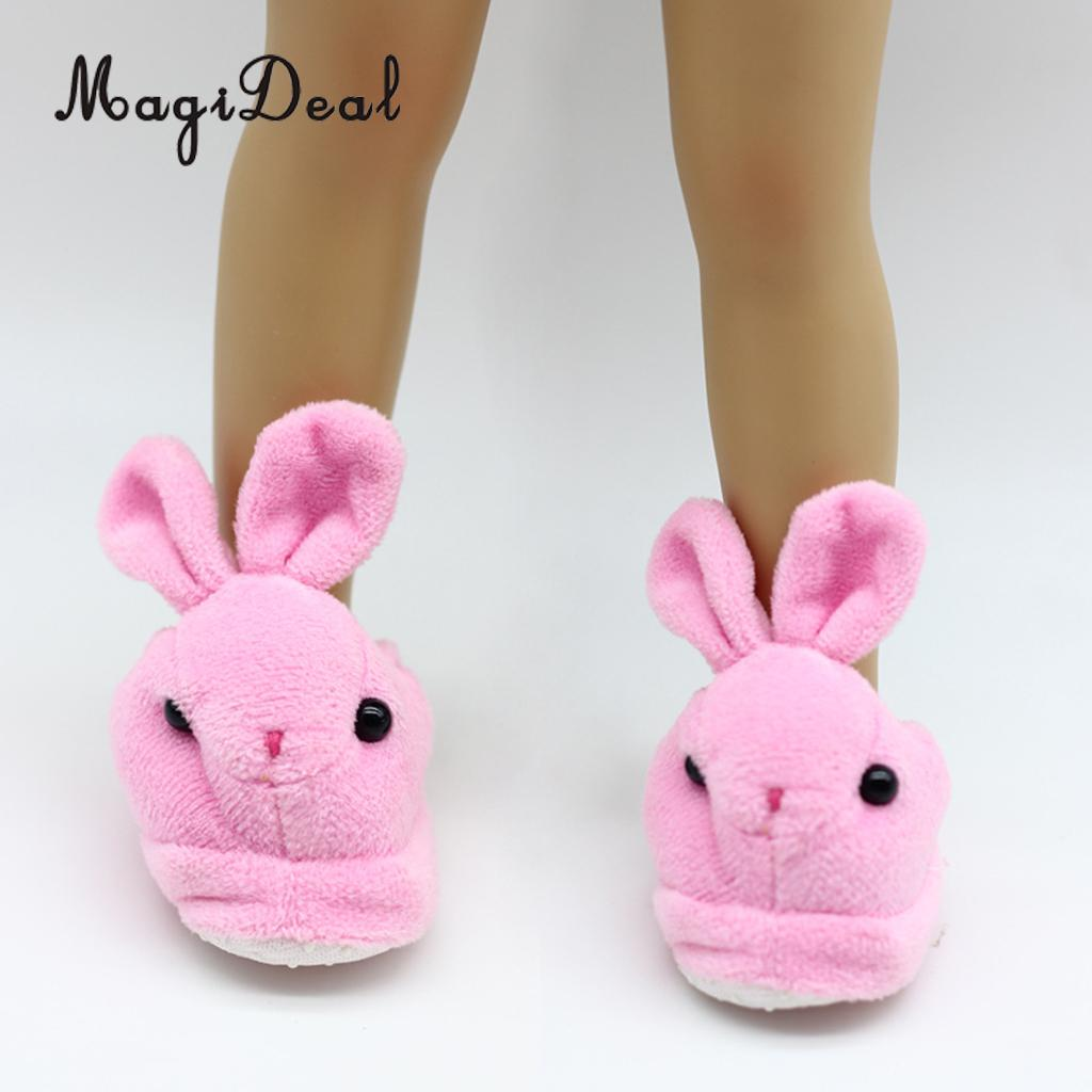 0abd4ebc7ab6 Adorable Rabbit Plush Slippers Shoes Fit for 18 Inch American Girl Our  Generation Doll Dress Up