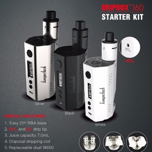 2017 Hottest hi-tech e-cigarette 7ml 160W Kangertech Dripbox Kit