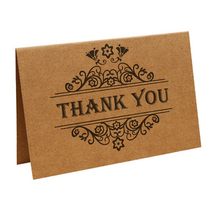 Vintage Craft Paper Thank You Birthday Cards