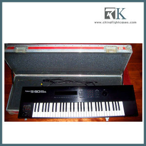 Flight Case for 1986 Roland S-50 Sampler Keyboard with Red Anvil