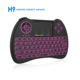 Wide land Back lit Mini 2.4GHz Portable Wireless Touchpad Keyboard for PC, Pad, Google Android TV Box, Smart TV, HTPC, IPTV