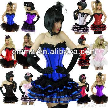 Burlesque Corset Tutu Skirt Fancy Dress Costume Plus Size 6 24