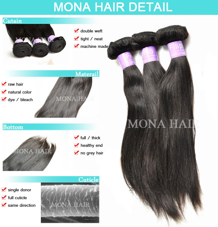 Most Selling Filipino Hair 100 Raw Non Chemical Procssed 8a Grade