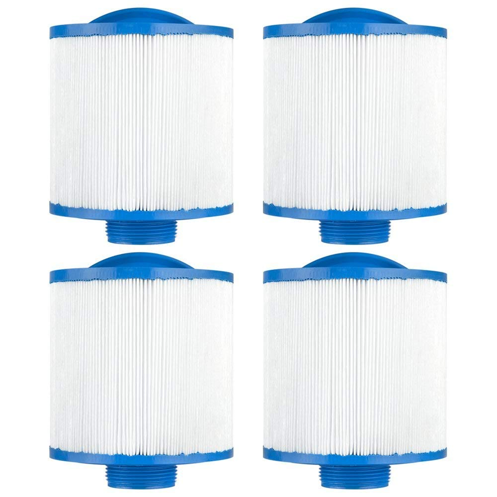 """Clear Choice CCP447 Pool Spa Replacement Cartridge Filter for Saratoga Spa top Load Filter Media, 4-5/8"""" Dia x 4-5/8"""" Long, [4-Pack]"""