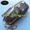 High quality 5 buttons remote car keys 433MHZ for ford key flip key ford