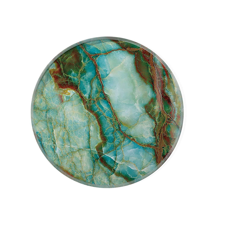 Green Marble Glass Coaster For Drinks Housewarming Gift Coaster Drink Mat Tea Rug Coaster Tempered Glass Wine Mat Hardboard Coaster ZZ8161