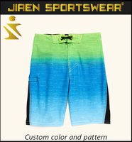 Customize cool colour mens kids boardshorts stripes cargo shorts