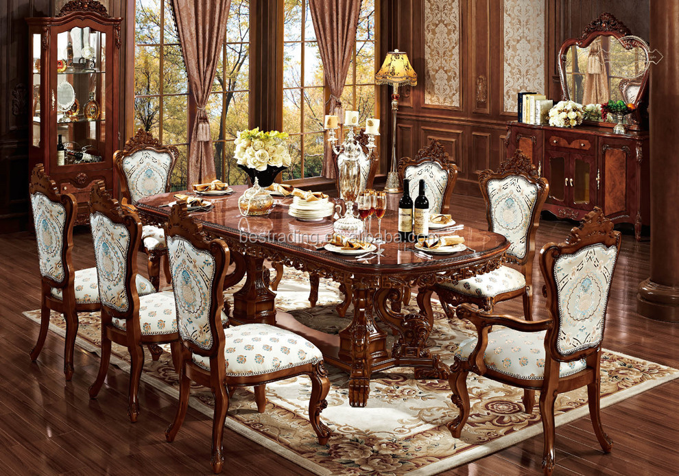 Wood Dining Table Designs With Carving Dining Room