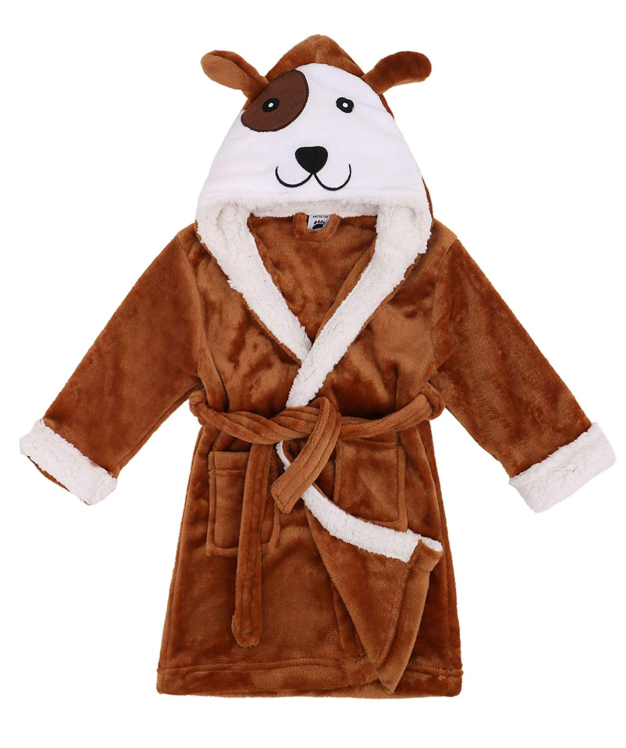 Arctic Paw Boys/Girls' Plush Soft Hooded Bathrobe Theme Party Costume Robe