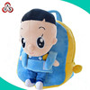 baby plush bag lovely fashionable soft OEM sevice cartoon 3d plush child baby schoolbag backpack