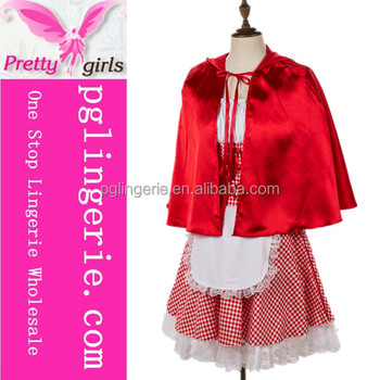 High Quality Deluxe Little Red Riding Hood Ladies Fancy Dress Costume